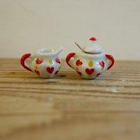 陶器製 ミルクピッチャー/シュガーポット