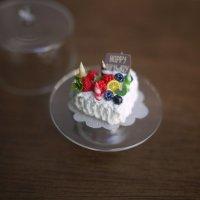 バースデーケーキ(フルーツハート)