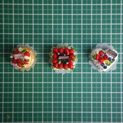 画像3: バースデーケーキ(フルーツハート)