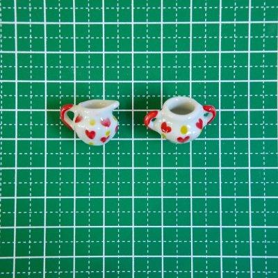 画像3: 陶器製 ミルクピッチャー/シュガーポット