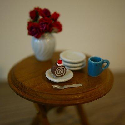 画像1: 模様つき小皿(丸 Φ20mm)