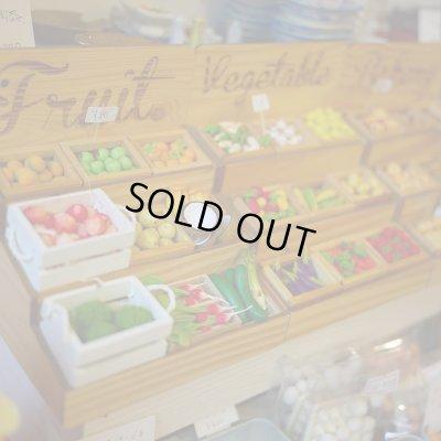 画像2: マルシェ風屋台三段ケース(野菜・果物・パン)