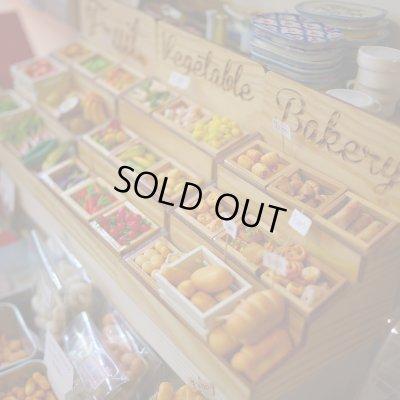 画像1: マルシェ風屋台三段ケース(野菜・果物・パン)