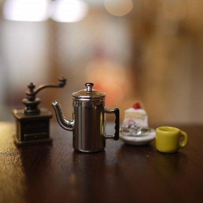 画像1: メタルコーヒーポット