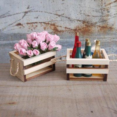 画像2: 【まとめ買いOK】 持ち手付き木箱