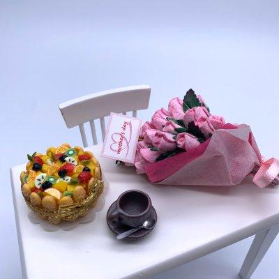 画像2: 小さな母の日♡バラの花束&ほっこりティータイムギフト(ネット限定)