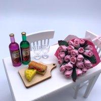 小さな母の日♡バラの花束&ペアワインギフト(ネット限定)