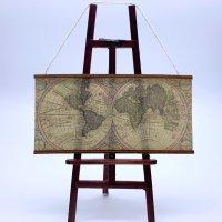 アンティーク世界地図 古地図