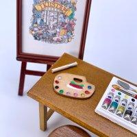ミニチュア 木製お絵描きパレット