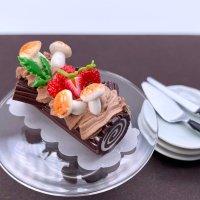 きのこのケーキ (ブッシュドノエル クリスマスケーキ)