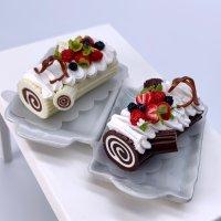 切り株のケーキ (ブッシュドノエル クリスマスケーキ)