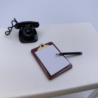 画像1: ミニチュア クリップボード (メモ帳)