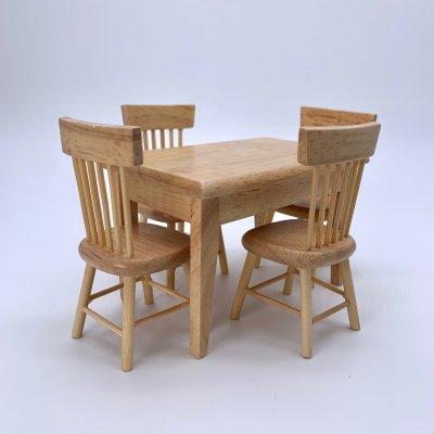 画像1: テーブル&チェアセット(ナチュラル/ホワイト)ダイニングテーブル