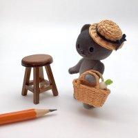 手編みカンカン帽 麦わら帽子 ハット