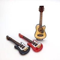 ミニチュア ギター(エレキ、クラシック)
