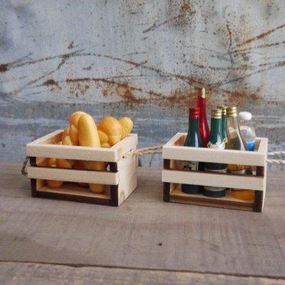画像1: 【まとめ買いOK】 持ち手付き木箱