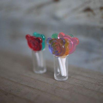 画像2: クマのぺろぺろキャンディ(クリア6色)