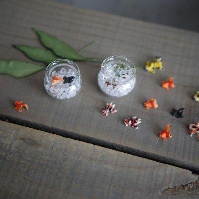 画像2: ガラスフリル金魚鉢S