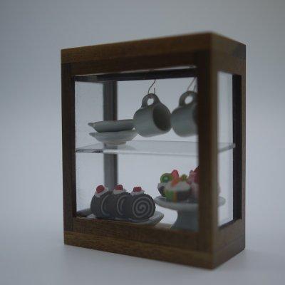 画像1: 木製バー付きショーケースS