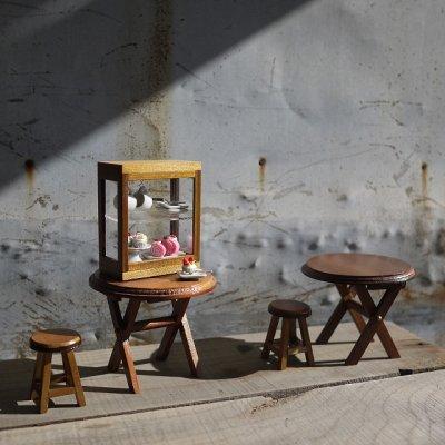画像2: 木製バー付きショーケースS