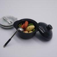 ふた付き鉄鍋(黒・Φ30mm)