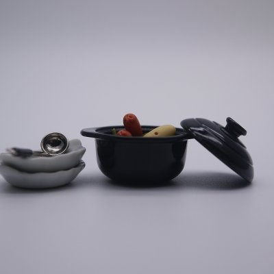画像2: ふた付き鉄鍋(黒・Φ30mm)
