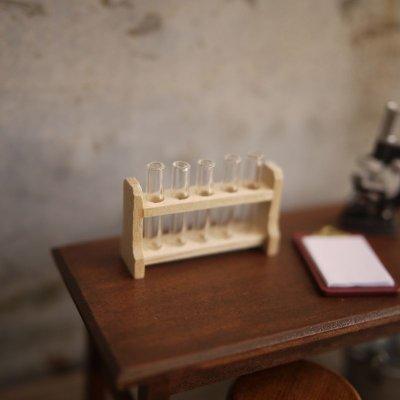 画像2: ミニチュア 試験管5本セット&木製スタンド