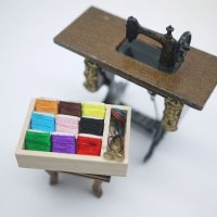 木製オープン裁縫箱