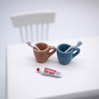 画像1: カップが選べる♡ペア歯磨きセット(ネット限定)